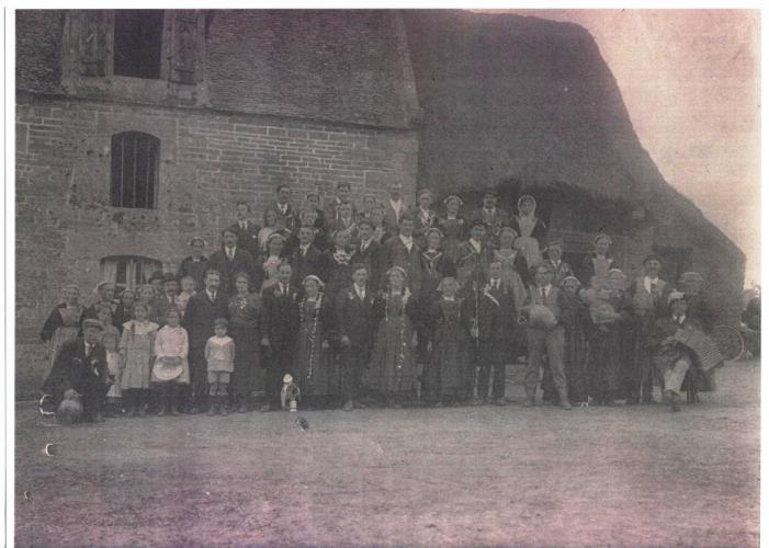 mariage en Bretagne vers 1922